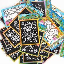 6 шт., 13x9,5 см, цветная скретч-бумага для рисования, скребка, граффити, рисование, книга для рисования, для детей, офисные канцелярские принадлежности, подарок