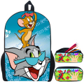 Trend Cartoon Character Tom and Jerry Children School Bags Boys Cute Bookbags for Kids Mochila Escolar-Various