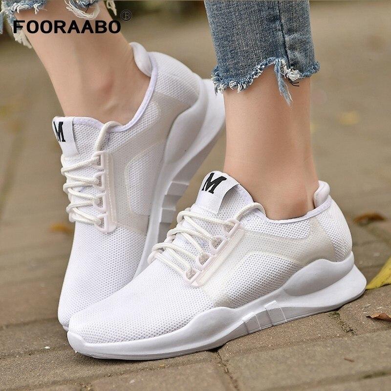 2018 Fashion Spring Summer Women Mesh White Shoes Ladies Casual Shoes Female Sneaker Outdoor Flats Women Girl Leisure Footwear