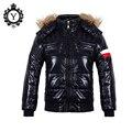 2016 Nuevos Hombres de la Chaqueta Transpirable Ropa Ocasional Outwear Negro Sólido Abrigos Parkas Jaqueta masculina Muchachos de Alta Calidad D006