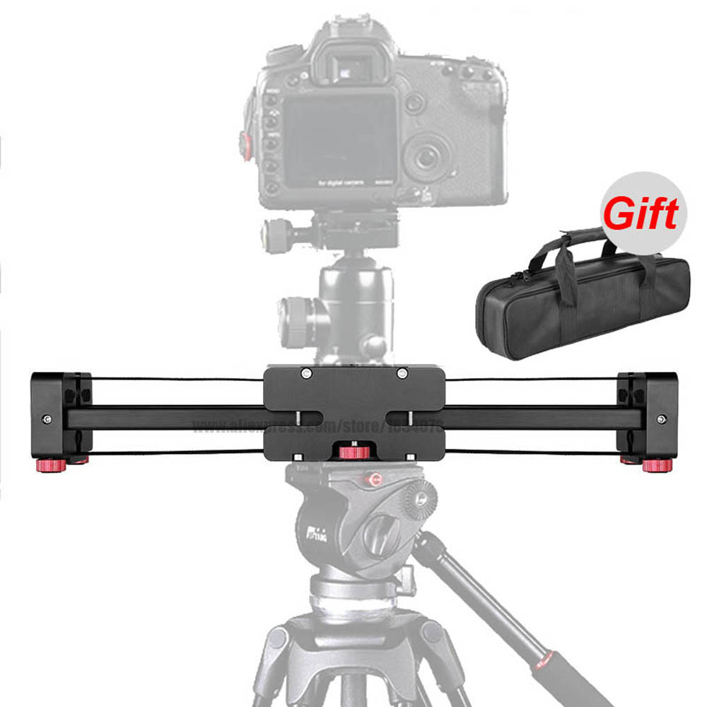 New Portable 3/8″ Adjustable DSLR Video Camera Slider 400mm Double Distance for Canon Nikon Sony DSLR DV Camera Dolly Stabilizer