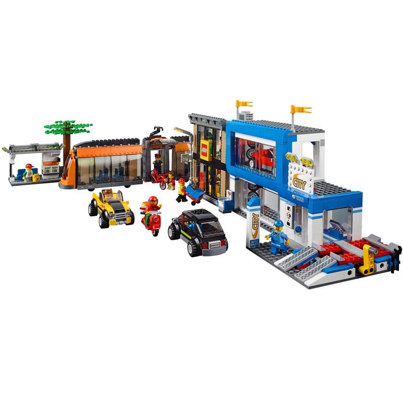 цена на LEPIN 02038 City Series 1767pcs The City Square Model Building Block set Brick Educational Toy For children 60097 Gift
