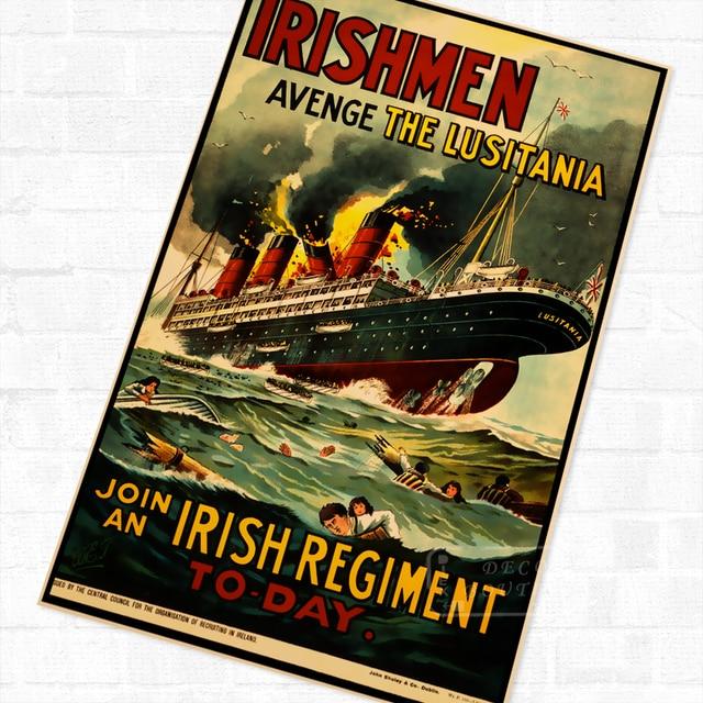 Irishmen Avenge The Lusitania Wwi Ww1 Propaganda Poster