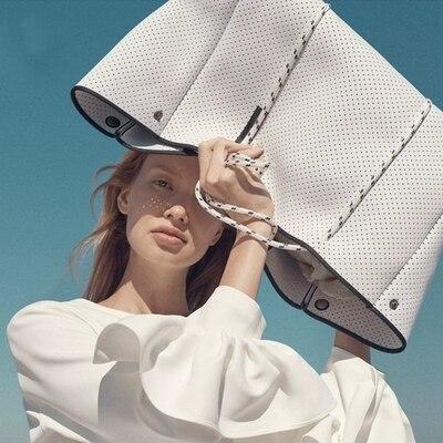 Chegada de Luxo Tecido de Mergulho Bolsas de Ombro Nova Respirável Bolsa Feminina Grande-capacidade Marca Casual Tote Bolsala
