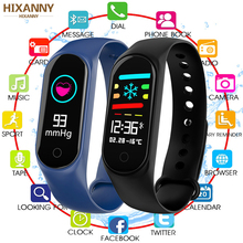 2019 NewSmart Bracelet Color-screen IP67 Fitness Tracker blood pressure Heart Rate Monitor Smart band For Android IOS phone Men m3s color screen ip67 smart bracelet blood pressure heart rate monitor fitness tracker smart wrist band for android ios phone
