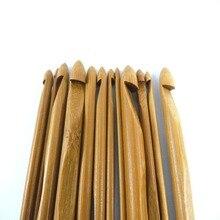 ; 12 шт./компл. 50 компл./лот 15 см Бамбук Вязание вязальный крючок-Игла DIY ручной Carfts пряжа инструмент для вязания наборы для ухода за кожей