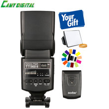 Godox Camera Flash TT560II GN38 with Build-in 433MHz Wireless Transmission+Softbox+Color Filter Kit For All DSLR Cameras