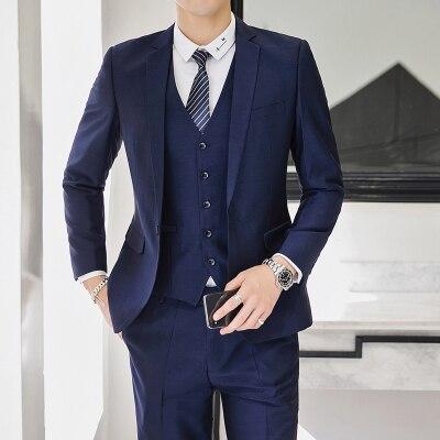 men grooming 3 piece suits men tweed formal suit with. Black Bedroom Furniture Sets. Home Design Ideas