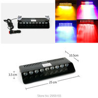 27W 9 LED Car Emergency Warning Dashboard Dash Visor Police Strobe Lights Lamp For Benz Vw