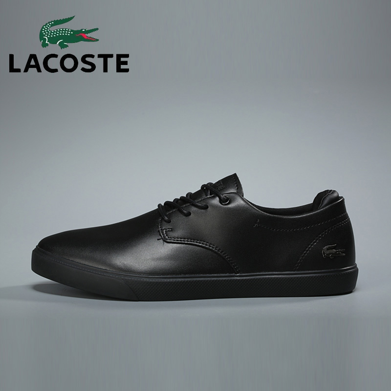 Lacoste Classics Men's Athletic Skateboarding Shoes Black Tennis Walking Shoes Breathable Volleyball Basketball Sports Sneakers professional cushioning volleyball shoes unisex light sports breathable shoe women sneakers badminton table tennis shoes g364