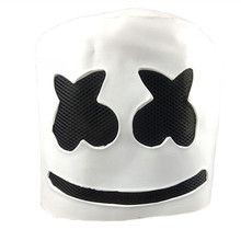 DJ Marshmello Mask Latex Full Face Adult Costume Cosplay Carnival Halloween Helmet Party Prop Dance Head Masks