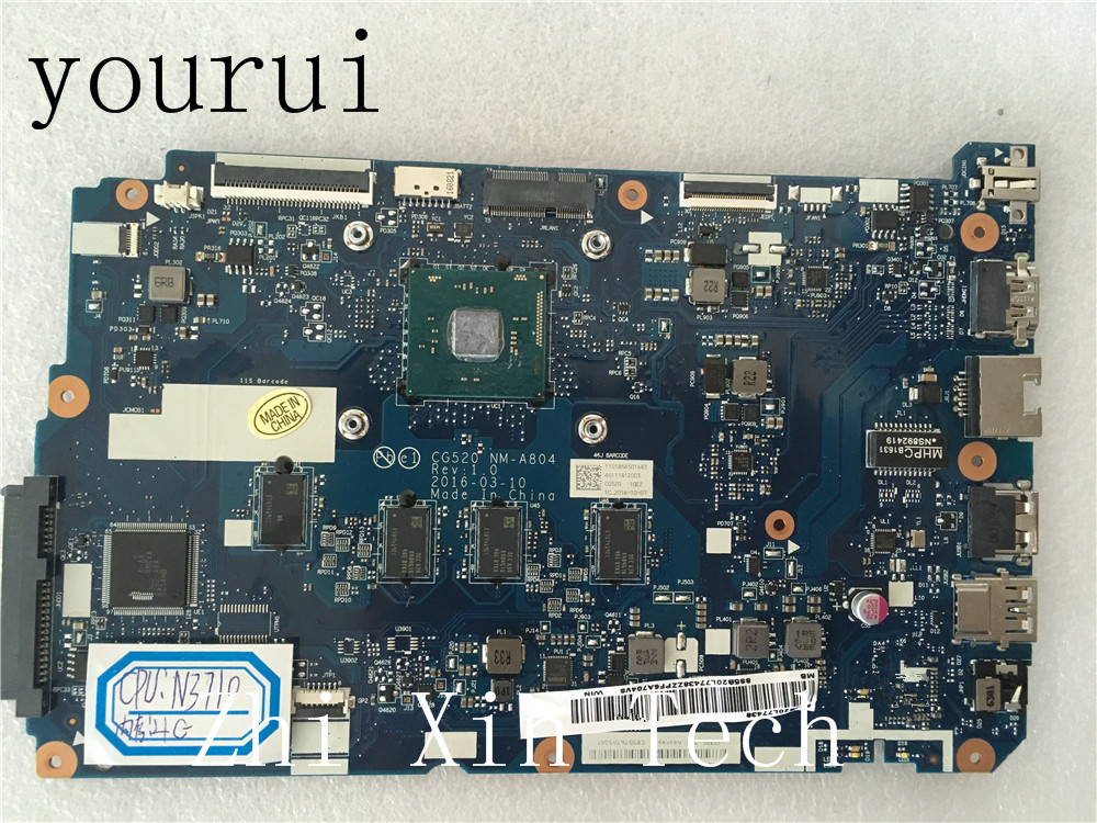 yourui CG520 NM-A804 For <font><b>Lenovo</b></font> <font><b>IdeaPad</b></font> <font><b>110</b></font>-15IBR Laptop <font><b>motherboard</b></font> With N3710U CPU Test all functions 100% image