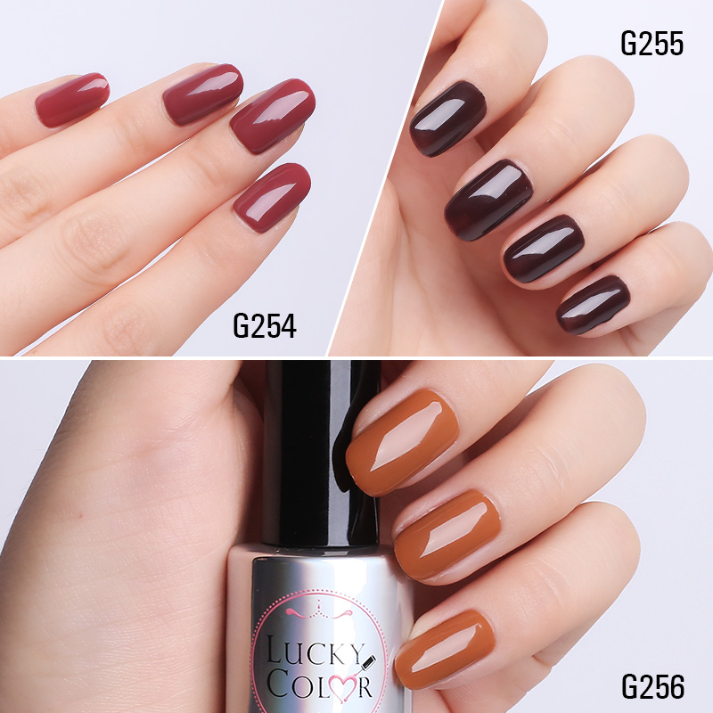 Coffee Brown Gel Nail Polish High Quality Long Lasting Soak Off Uv Led Beauty Art Tools 6 Colors 10ml In From Health On
