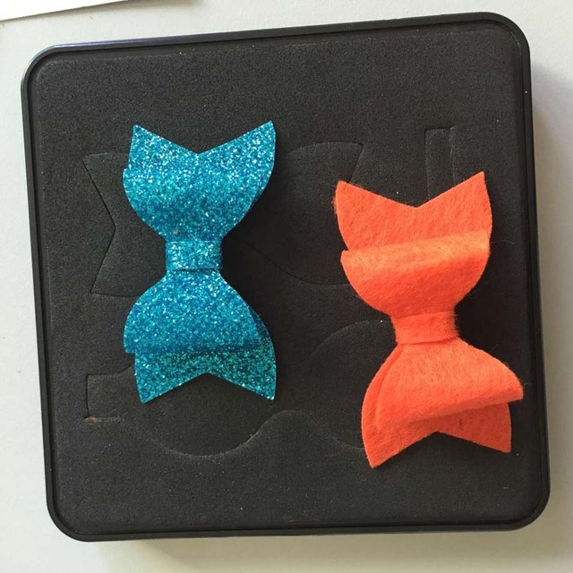 Bow shaping scrapbooking cutting die 15.8mm thick 100*100mm