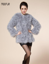 29e1a51ff1 Fashion Real Ostrich Fur Jacket Elegant Womens Turkey Fur Coats Casual  Spring Autumn Solid Outwear