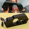 DWCX Car Black Motorcycle CNC Aluminum Alloy Handlebar Brake Lever Grip Throttle Caps Lock Security Anti