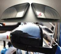 Углеродного волокна крыло заднего вида Замена Зеркало заднего вида крышка чехла для Jaguar F-темп X761 2016 2017