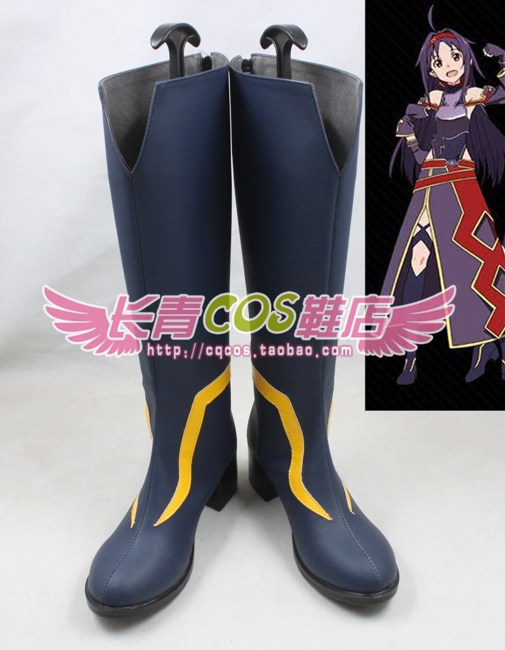 Sword Art Online 2 Konno Yuuki high boots Cosplay Boots customize any size 2888