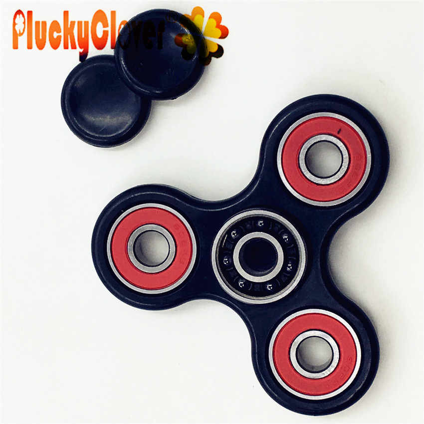 1 pc Black Tri-Spinner ABS Figet Spinner Toys Triangle Finger Spiner For Kids Adult Anti Anxirty Spinners Antistress Finger Gyro