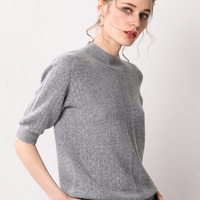 New Style Winter Dress Clothes Woman Loose Bottoming Sweaters Korean Short Sleeve Hollow Real Pure 100 Cashmere Sweater Fashion