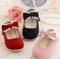 Мода перл дети обувь обувь для девочек сладкий бантом принцесса девушки одиночные обувь дети детская обувь квартиры