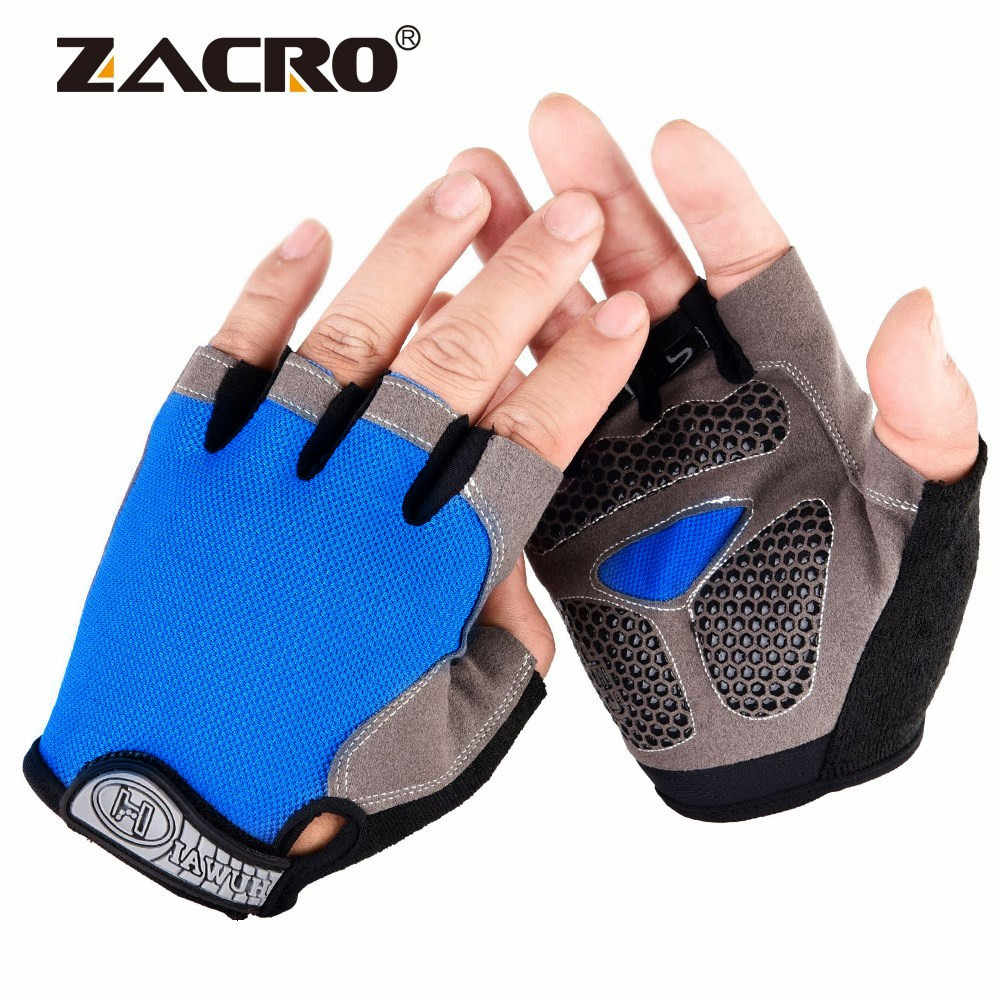 Zacro Cycling Gloves Anti-slip Men Women Half Finger Gloves Breathable Summer Sports Gloves GEL MTB Bike Bicycle Glove L XL