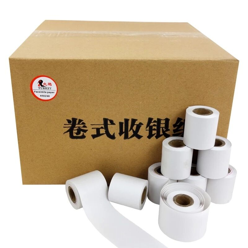 10 Rolls/Pack Cash Register/POS One Ply Bond Paper Rolls 44mm X 40mm    (1.75