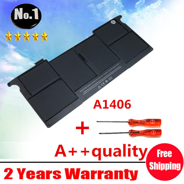 """Prix pour Gros Nouvelle Batterie d'ordinateur portable pour Apple MacBook Air 11 """"A1465 2012 A1370 2011 production Remplacer A1406 batterie Livraison gratuite"""