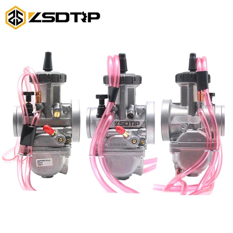 ZSDTRP KEIHIN PWK 33 34 35 36 38 40 42mm carburateur moto pour Honda Yamaha ATV Dirt vélos course 2 T/4 T moteur Carb