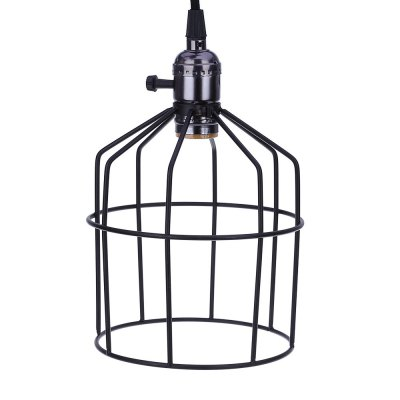 Vintage Industrial Hanging Light Pendant Cage Wire Lamp