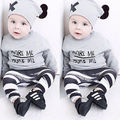 Hot Toddler Infant Baby Clothing Boys Girls Long Sleeve Tops+Long Pants Hat 3PCS Outfits Set Clothes 2017