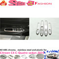 For CITR0EN C4 C-Quatre Sedan 2016 ABS chrome door Window glass inner panel Armrest Lift Switch Button trim frame molding 4pcs