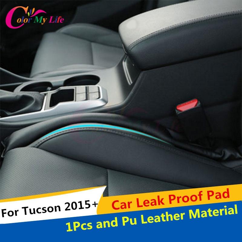 1 חתיכת פו עור חומר דליפת רכב הוכחה Pad עבור יונדאי טוסון 2012 2013 2014 2015 2015 IX 35 רכב מושבת דליפת הוכחה Pad