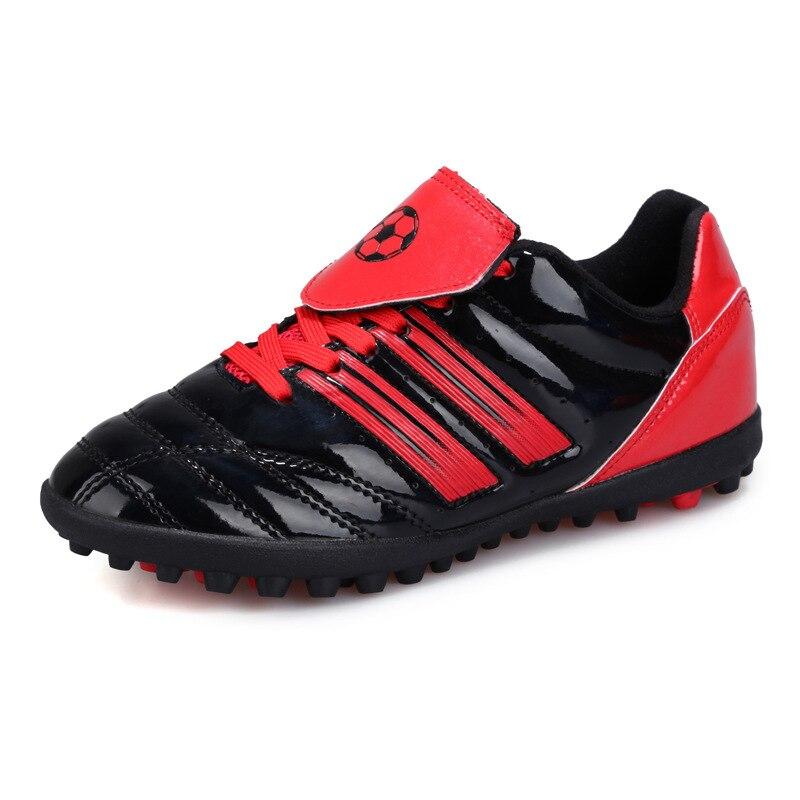 de4cca714 Four Seasons Young Boy Soccer Shoes Broken Nail Foot Training Shoes  Artificial Grass Sneakers Football Soccer Shoes Kids Child
