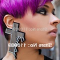 Big Cross Earrings Woman Guts Earrings Blood Dropping Gothic Style Earrings Mirrored Acrylic Jewelry