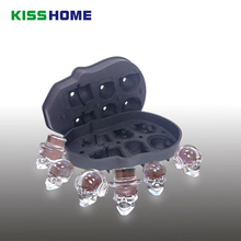 Creative Skull Ice Storage Tubs Maker 6 Girds 3D Silicone Spceial High Quality Fashion Chocolate Makers with Silicon Mini Funnel