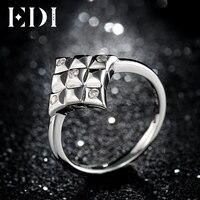 EDI Độc Đáo 100% 925 Sterling Silver D-F Màu Moissanites Kim Cương Nhẫn Đính Hôn Đối Với Phụ Nữ Jewelry