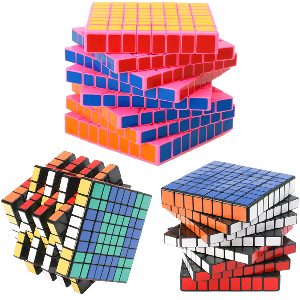 8*8 ShengShou HuangLong 8 Layers Magic Cubes 8x8x8 Professional Speed Puzzle Cube Antistress Toy for Children 8.4CM 8 layers shengshou 8x8x8 magic cube puzzle speed twist learning