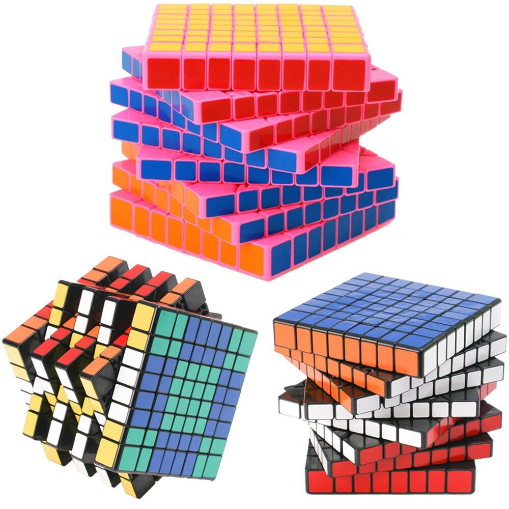 8*8 ShengShou HuangLong 8 Couches Magique Cubes 8x8x8 Professionnel Vitesse Puzzle Cube Jouet Antistress pour les Enfants 8.4 cm