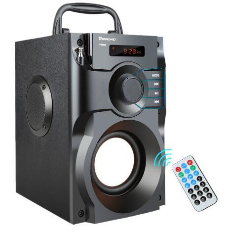 Grande puissance Bluetooth haut-parleur sans fil stéréo caisson de basse haut-parleurs lourds lecteur de musique Support LCD affichage FM Radio TF
