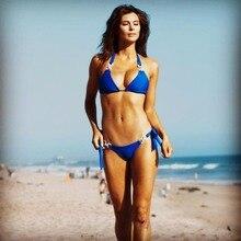 Crystal nude Brazilian rhinestone push up bikini