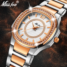 MISSFOX עלה זהב שעון נשים קוורץ שעונים גבירותיי למעלה מותג יוקרה נירוסטה נקבה שעון יד ילדה זהב שעון שעות