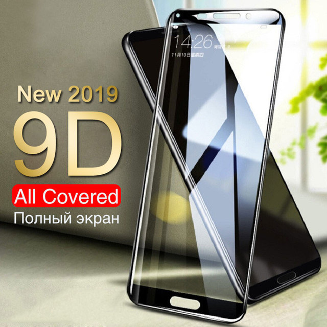 9D Screen Protector Glass For Huawei Mate 10 9 Lite 10 Pro 8 Tempered Glass For Huawei Honor 9 8 Lite 10 V10 Protective Film