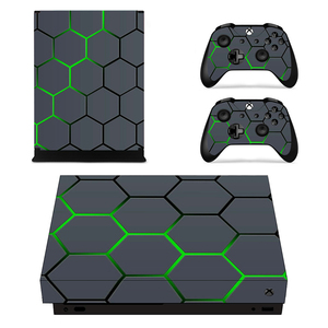 Removable Custom Design Vinyl Skin Sticker Film For XBOX ONE X Console Protector + XBOX ONE X Controller Cover Decals(China)