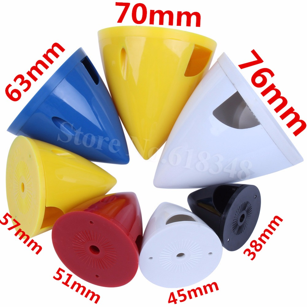Nylon RC Airlane Accessories Propeller Spinner 2-Blades 38mm/45mm/51mm/57mm/63mm/70mm/76mm