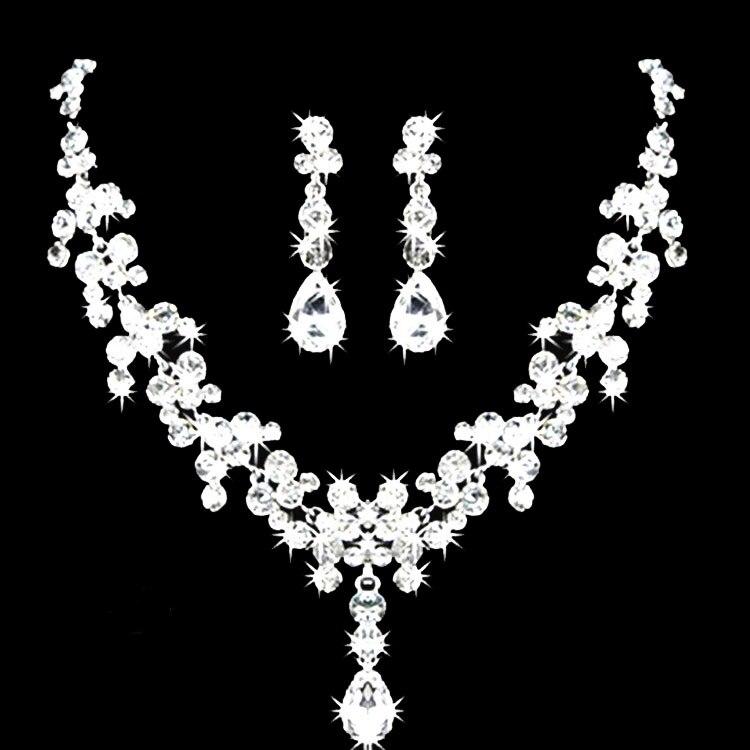Womens Wedding Jewellery Sets Fashion Bride Earrings Pendant Necklace+earrings Jewelry Wedding