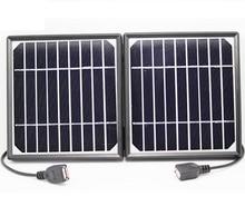 Alta qualidade portable folding 5 v carregador solar monocristalino painel solar charger carregador solar móvel para banco de potência dupla usb