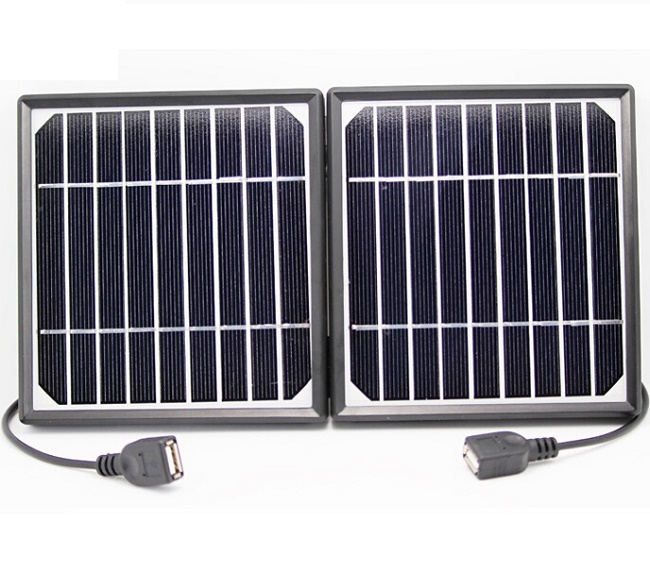 High Quality Portable Folding 5V Solar Charger Monocrystalline Solar Panel Charger Solar Mobile Charger For Power Bank Dual USB