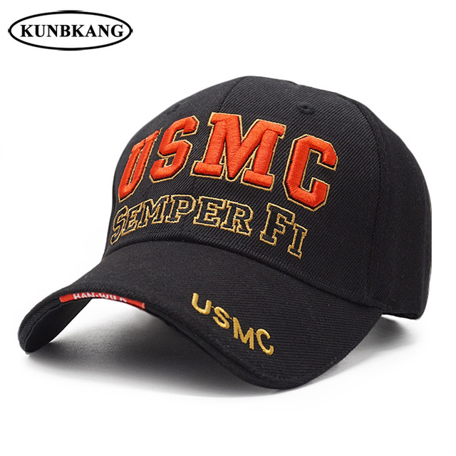 New Men US Marine Baseball Cap Army USMC Tactical Cap Trucker Gorras Summer  Outdoor Casual SEMPER FI Embroidery Snapback Dad Hat 4ce46dad5861