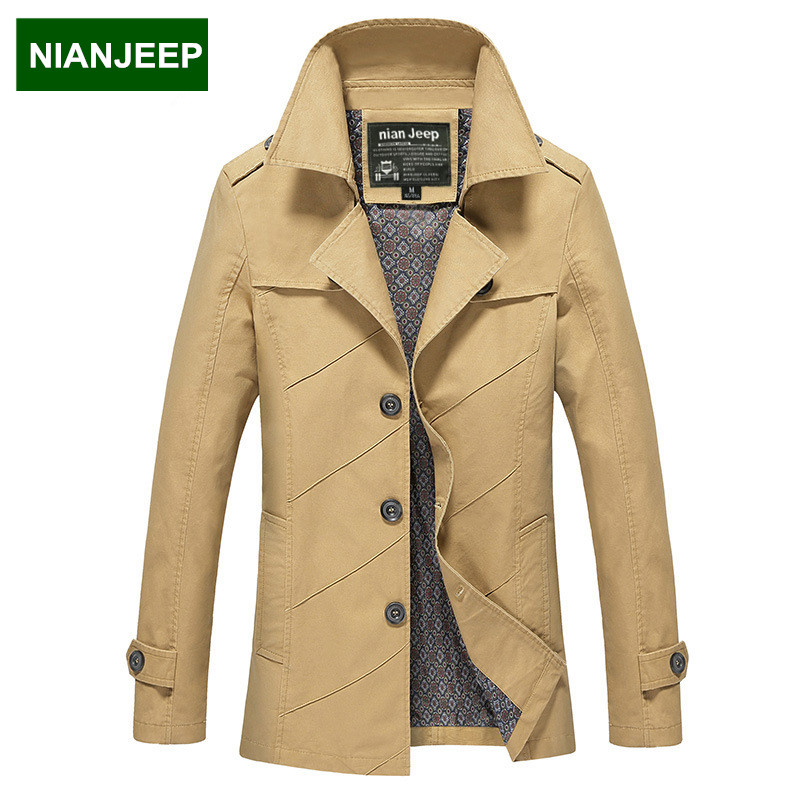 Spring men's Jackets Slim Casual cotton men Coats sections windbreaker male washed large size M-5XL